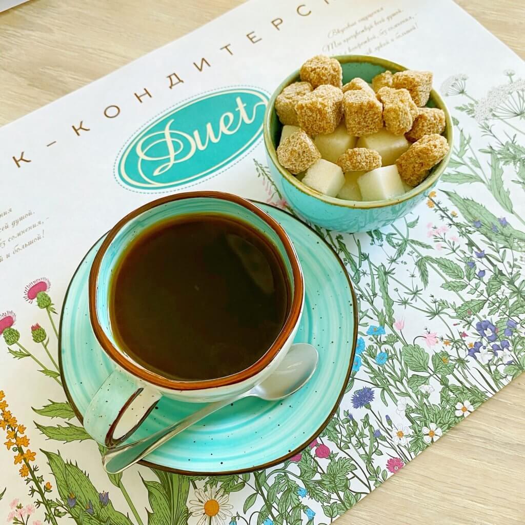 ウラジオストクのcafeduetのコーヒー