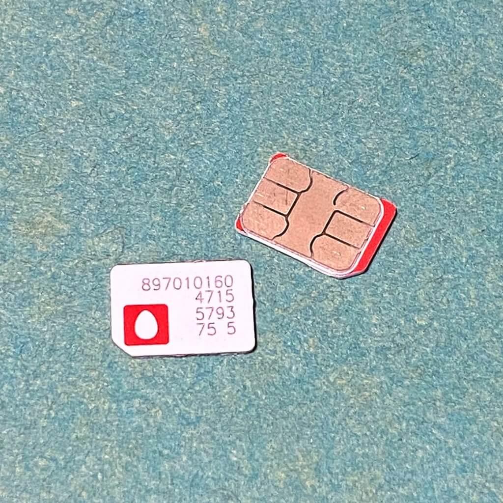 ウラジオストク空港で購入したSIMカード