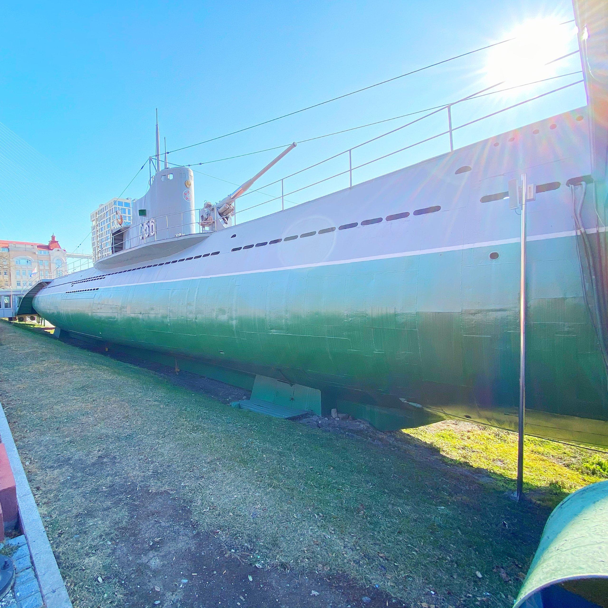 ウラジオストクのC56潜水艦の外観