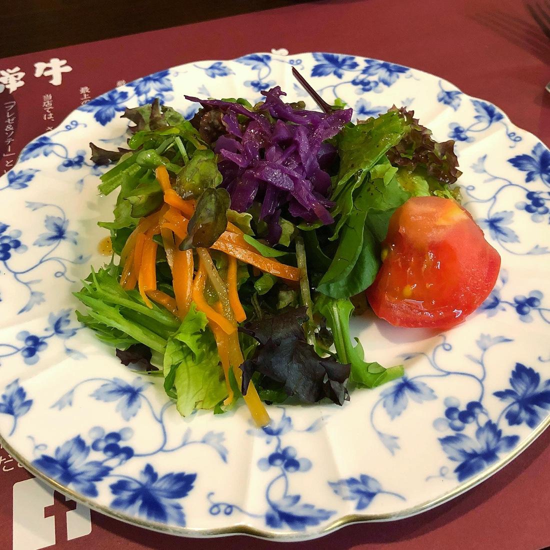 キッチン飛騨のシェアセットのサラダ