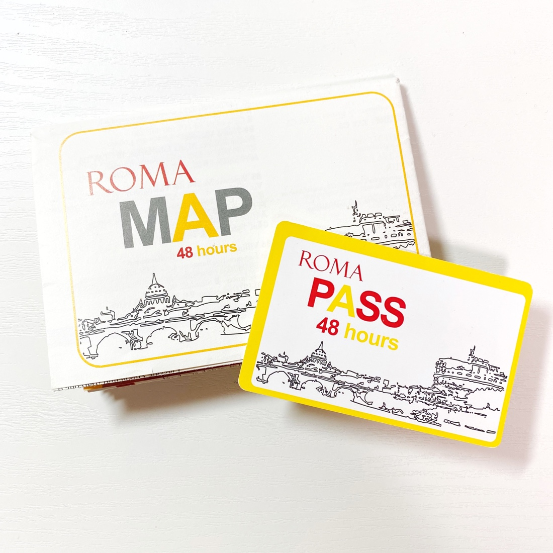 ローマ観光におすすめのローマパスと付属のマップ