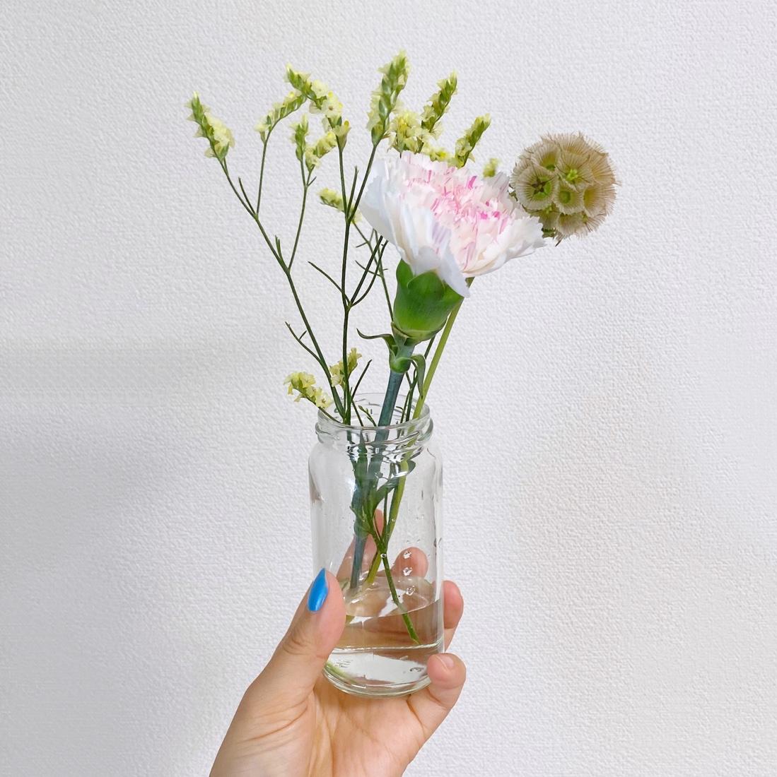 花瓶に入れてすぐのお花