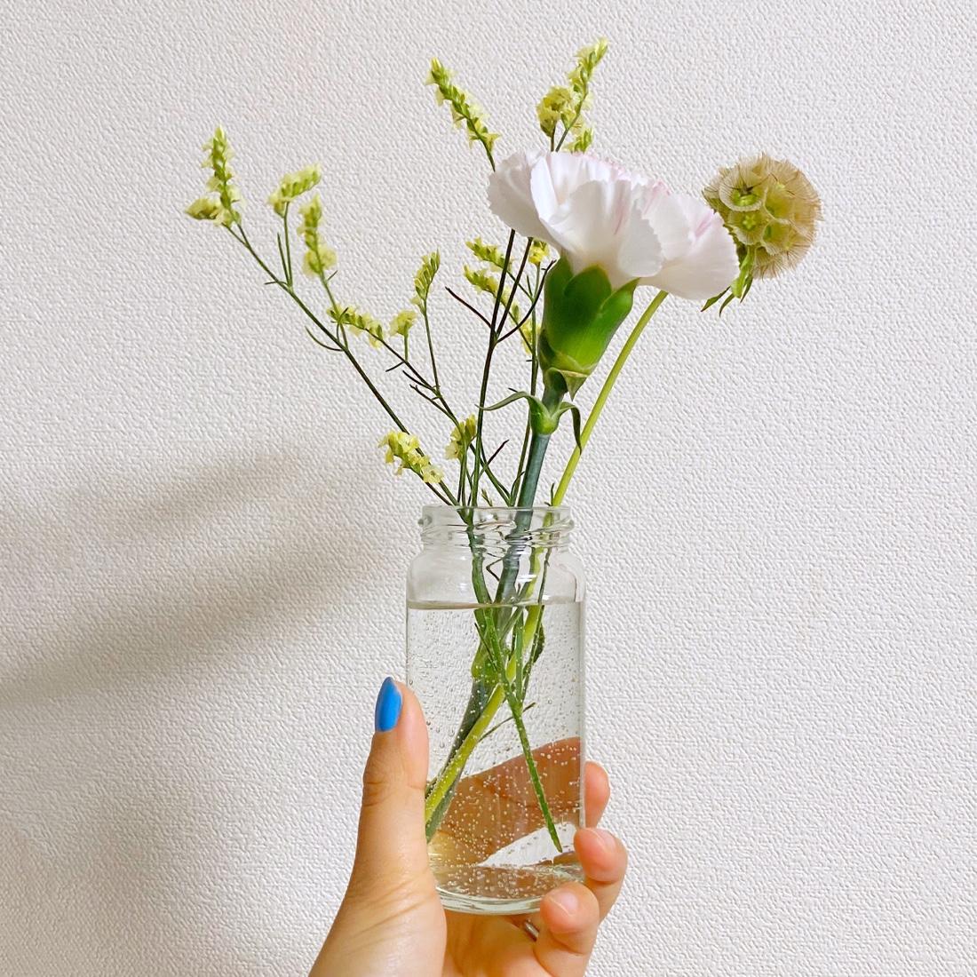 水揚げしてしばらく経ったお花
